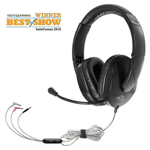 HamiltonBuhl Trios™  Multimedia Headset with Steel Reinforced Gooseneck Mic - Connect to Any Device!