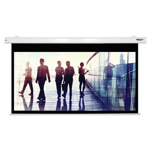 """HamiltonBuhl 92"""" Diag. (45x80) Electric Projector Screen, HDTV Format, Matte White Fabric"""
