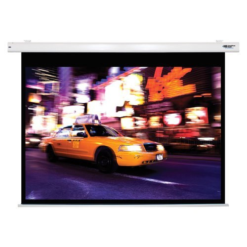 "HamiltonBuhl 100"" Diag. (60x80) Electric Projector Screen, Video Format, Matte White Fabric"