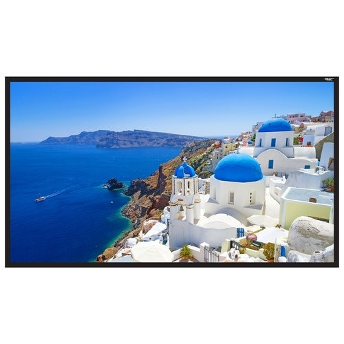 "HamiltonBuhl 135"" Diag. (66x118) Fixed Frame Projector Screen, HDTV Format, Matte White Fabric"
