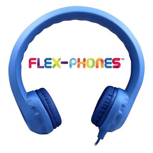 HamiltonBuhl Flex-Phones™ Foam Headphones – BLUE