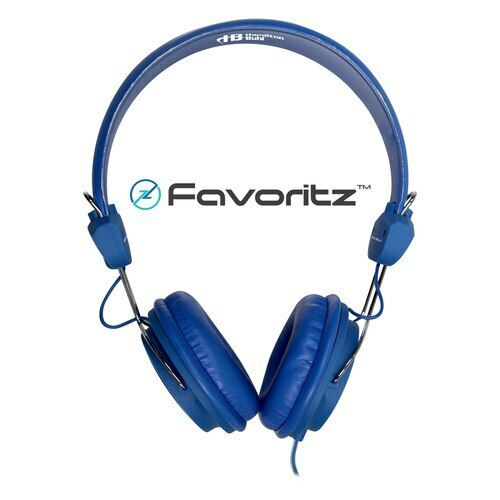 HamiltonBuhl Favoritz™ TRRS Headset with In-Line Microphone – BLUE