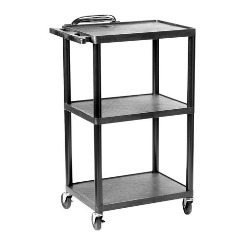 "HamiltonBuhl Plastic AV Cart Adjustable from 16"" to 42"""