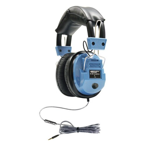 HamiltonBuhl Deluxe-Sized Headset with In-Line Microphone, TRRS Plug
