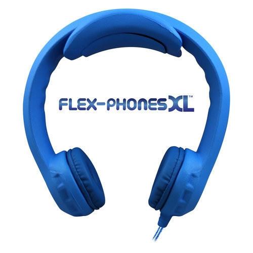 Flex-PhonesXL (Blue) - Indestructible, Single-Construction Headphones For Teens