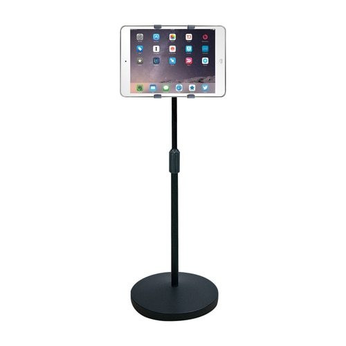 """HamiltonBuhl iPad/Tablet Universal Mount Floor Stand,  Height Adjustable from 37.6"""" to 56.5"""""""