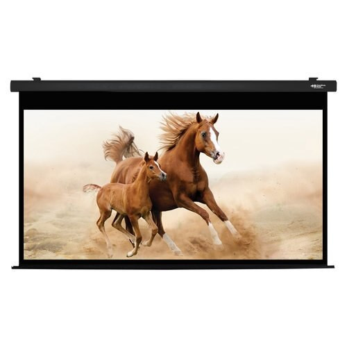 "HamiltonBuhl 135"" Diag. (66x118) Electric Projector Screen, HDTV Format, Matte White Fabric - Black"
