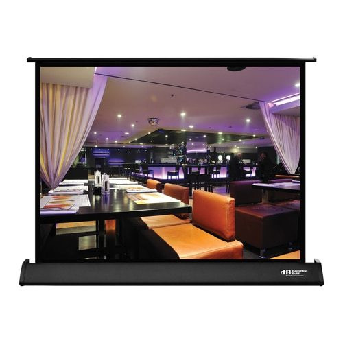 "HamiltonBuhl 30"" Diag. (18x24) Tabletop Projector Screen, Video Format, Matte White Fabric"