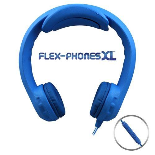 Flex-PhonesXL (Blue) - Indestructible, Single-Construction Headset For Teens