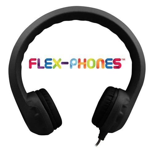 HamiltonBuhl Flex-Phones™ EVA Foam Headphones –BLACK