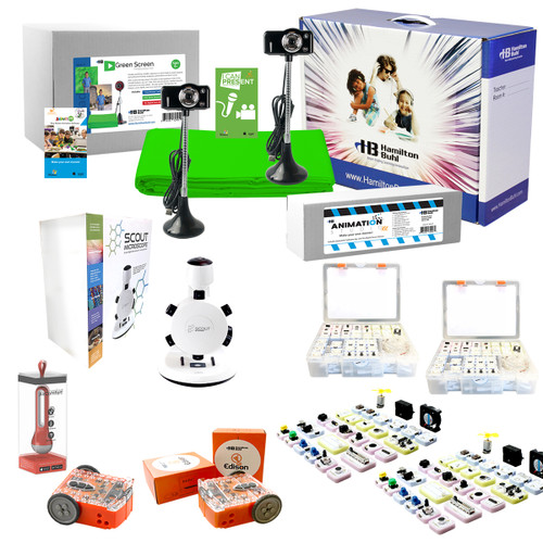 Intermediate Skill Level – STEAM Starter Pack – Coding Robots, Engineering Robots, Green Screen and Animation Kits, and Much More!