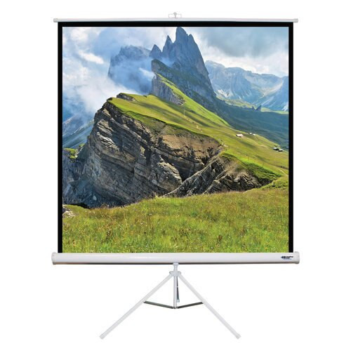 "HamiltonBuhl 85"" Diag. (60x60) Tripod Projector Screen, Square Format, Matte White Fabric"