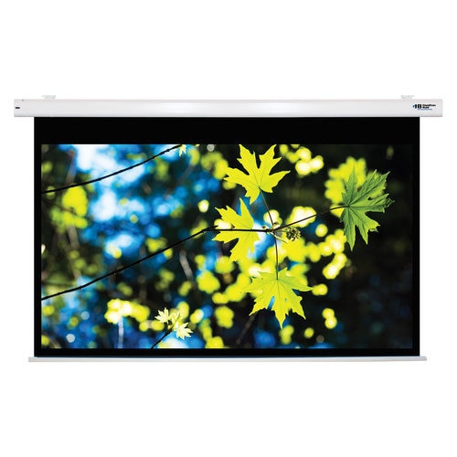 "HamiltonBuhl 100"" Diag. (53x85) Electric Projector Screen, 16:10 PC Format, Matte White Fabric"