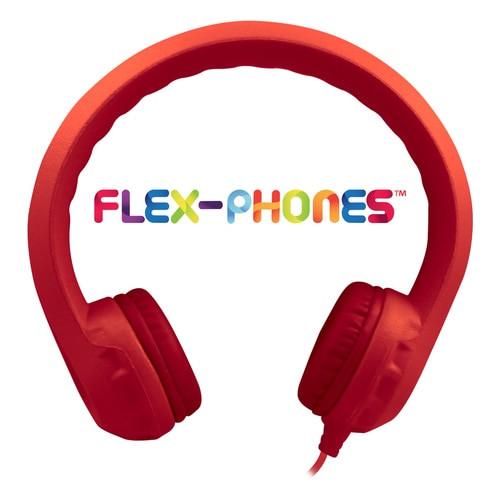 HamiltonBuhl Flex-Phones™, Foam Headphones, Red