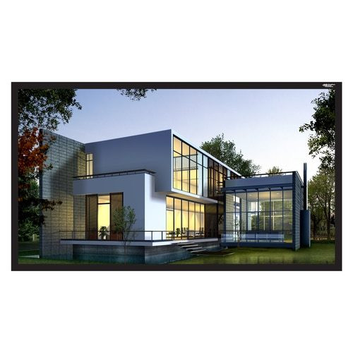 """HamiltonBuhl 110"""" Diag. (54x96) Fixed Frame Projector Screen, HDTV Format, Matte White Fabric"""