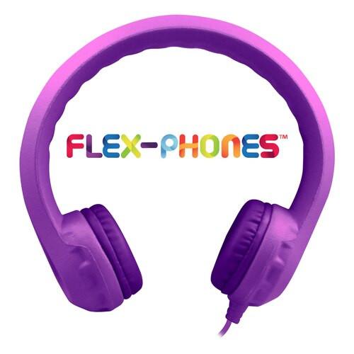 HamiltonBuhl Flex-Phones™ Single Construction Foam Headphones - Purple