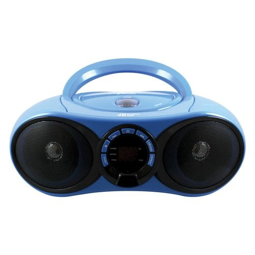 front of AudioMVP Boombox CD/FM Media Player with Bluetooth Receiver