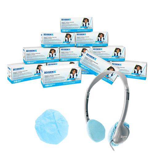 "HamiltonBuhl Disposable Ear Cushion Covers, Blue, 2.5"" Personal,  Master Carton 12 boxes"