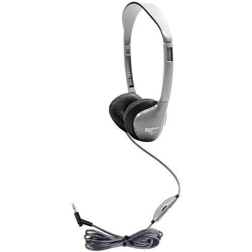 HamiltonBuhl SchoolMate™ Personal-Sized Headphone with Leatherette Cushions and In-Line Volume Control