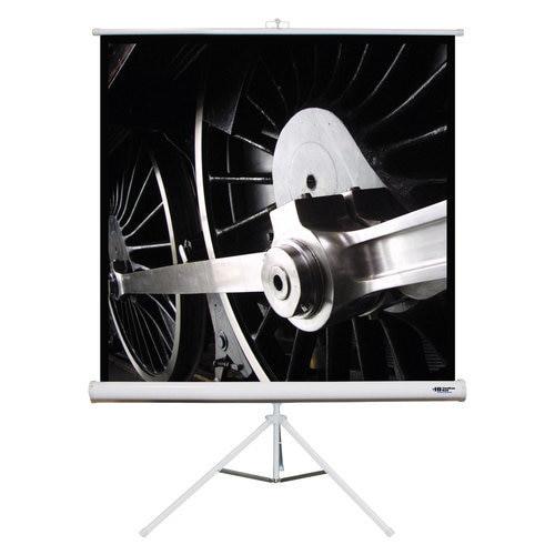 """HamiltonBuhl 71"""" Diag. (50x50) Tripod Projector Screen, Square Format, Matte White Fabric"""