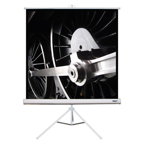 "HamiltonBuhl 71"" Diag. (50x50) Tripod Projector Screen, Square Format, Matte White Fabric"
