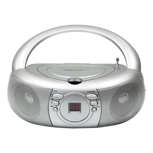 HamiltonBuhl Basic CD/AM-FM Listening Center, 6 Stations, Carry Box