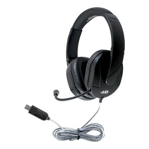 HamiltonBuhl MACH-2™ Multimedia Deluxe Over-Ear Headset with Steel-Reinforced Gooseneck Mic