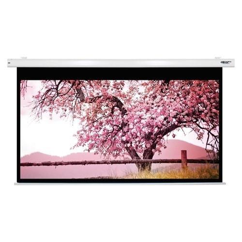 "HamiltonBuhl 150"" Diag. (74x131) Electric Projector Screen, HDTV Format, Matte White - White"