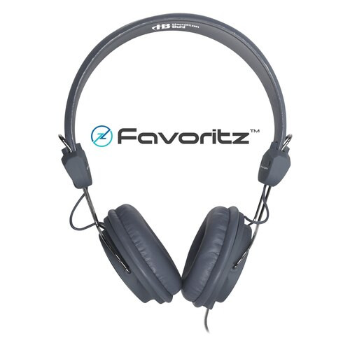 HamiltonBuhl Favoritz TRRS Headset with In-Line Microphone - Gray