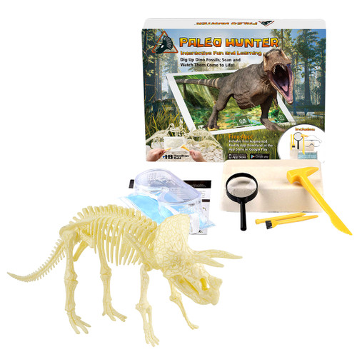 STEAM Education – HamiltonBuhl Paleo Hunter™ Dig Kit – Triceratops – with Free App