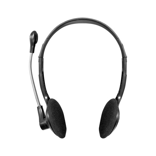 Multi-Pack of 100 Personal Headsets with Steel-Reinforced Mic, TRRS Plug and Foam Ear Cushions