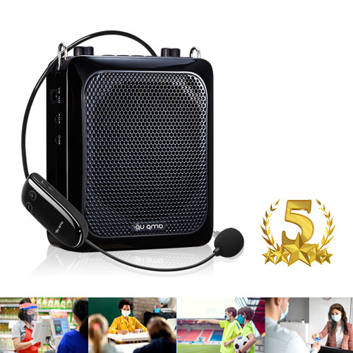 Amp-Up™ Personal UHF Voice Amplifier with Wireless Microphone and Up to 40 Channels without Interference!