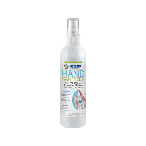 HygenX 80% Ethyl Alcohol Hand Sanitizer 8 oz. Spray Bottle