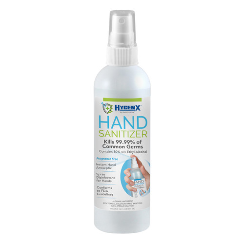 HygenX™ Hand Sanitizer 16 oz. Spray Bottle, 80% Ethyl Alcohol – Fully FDA Compliant