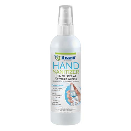 HygenX 80% Ethyl Alcohol Hand Sanitizer - Fully FDA Compliant - 16 oz. Bottle