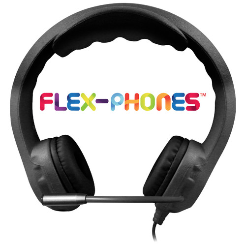 Kid's Flex-Phones™ TRRS Headset with Gooseneck Microphone – BLACK