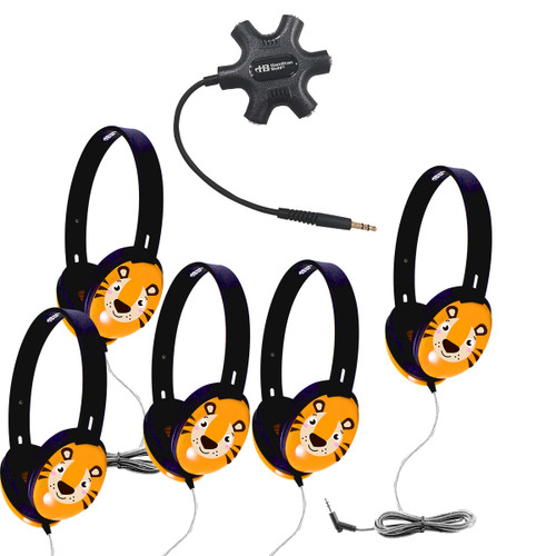 Listening Center with 5 Primo™ Tiger Headphones and Galaxy™ Jackbox
