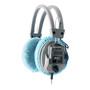 blue headphone covers