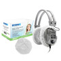 """HygenX™ Sanitary, Disposable Ear Cushion Covers for 4.5"""" Deluxe-Sized Headphones and Headsets, 50 Pairs – WHITE"""