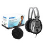 """HYGENX™ Sanitary, Disposable Ear Cushion Covers for 4.5"""" Deluxe-Sized Headphones and Headsets,  50 Pair – BLACK"""