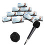 HygenX Sanitary Disposable Microphone Covers - Black, Master Carton 12 boxes of 100
