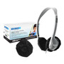 "HygenX Sanitary, Disposable Ear Cushion Covers (2.5"" Black - 50 Pairs) - For On-Ear Headphones and Headsets"