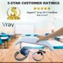 HygenX™ Vray High Intensity Portable and Cordless UV-C Sanitizer – Kills 99.9% of Bacteria