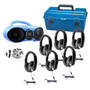 HamiltonBuhl AudioMVP™  Bluetooth®/CD/FM Listening Center- 6 Station with   6 Smart-Trek™ Deluxe Headsets