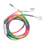 HamiltonBuhl Tangle-Free  Ear Buds, In-Line Microphone and Play/Pause Control with Rainbow Skooob