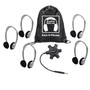 Galaxy™ Econo-Line of Sack-O-Phones with 5 Personal-Sized HA2 Headphones, Starfish Jackbox and Carry Bag