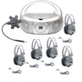 Galaxy™ Deluxe Listening Center with 5 SC-7V Headphones, MPC-3030 Boombox and Galaxy™ Jackbox