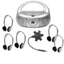 Galaxy™ Deluxe Listening Center with 5 HA2 Headphones, MPC-3030 Boombox and Starfish Jackbox