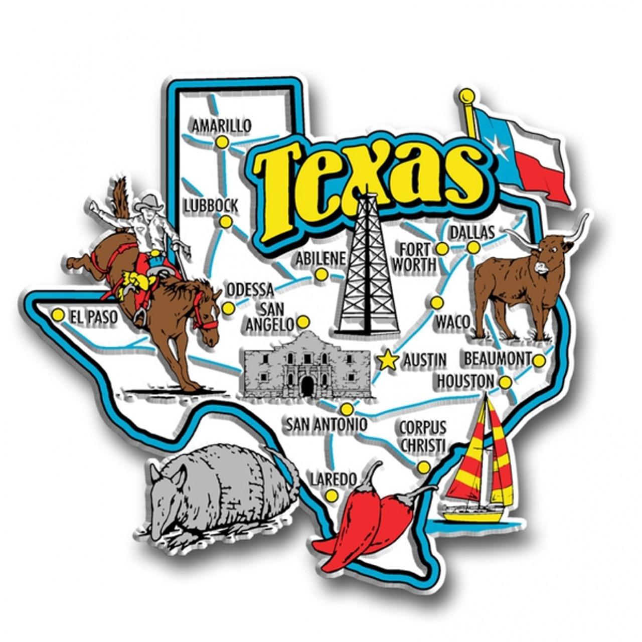 United States GA LA TN TX WV WY UT US State Souvenir Magnet /& Keychain lot