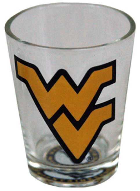 WV Mountaineers Bullseye Bottom - Shot Glass 2 oz